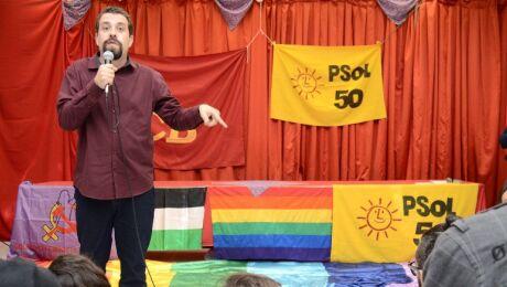"""Boulos em Debate sobre """"Defesa da Democracia"""". (Foto: Sabrina Silva/Divulgação)"""