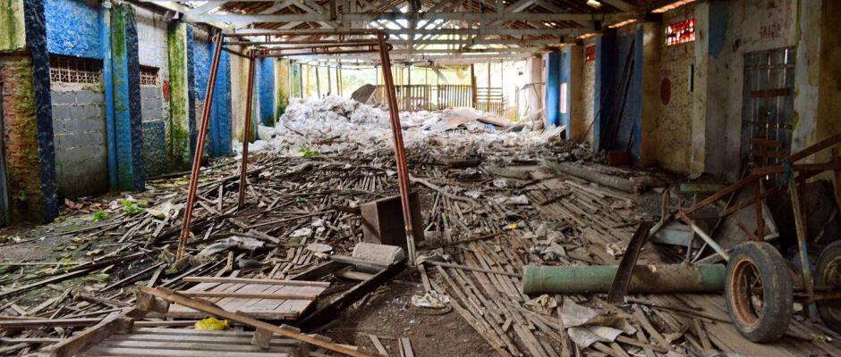 Em ruínas, prédio do antigo Cenaturis aguarda projeto para ser Centro Esportivo