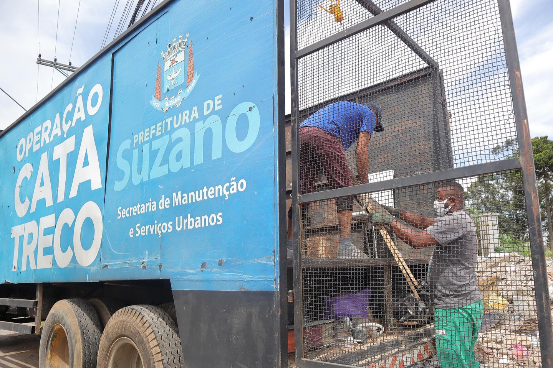 Operação Cata-Treco realiza coleta de materiais em seis bairros de Suzano