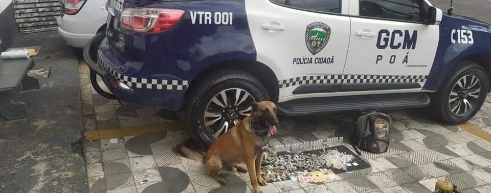 GCM prende suspeito com mais de 1,8 quilos de drogas em Poá