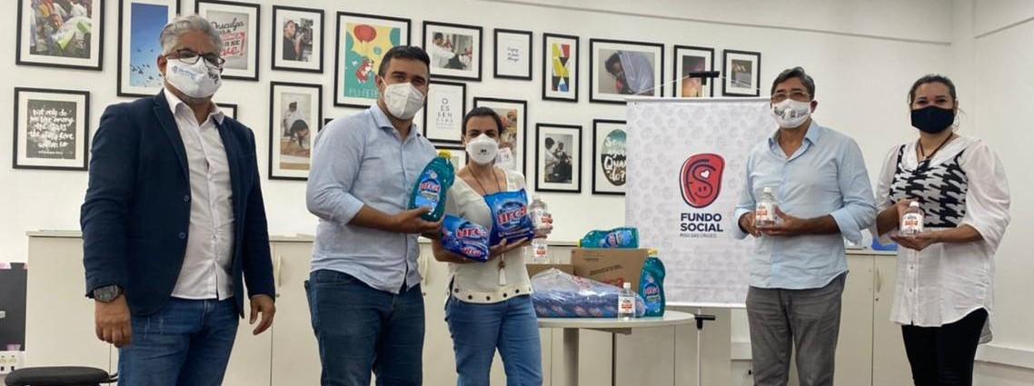 Vôlei Suzano recebe 7 toneladas de produtos de limpeza e doa para famílias do Alto Tietê