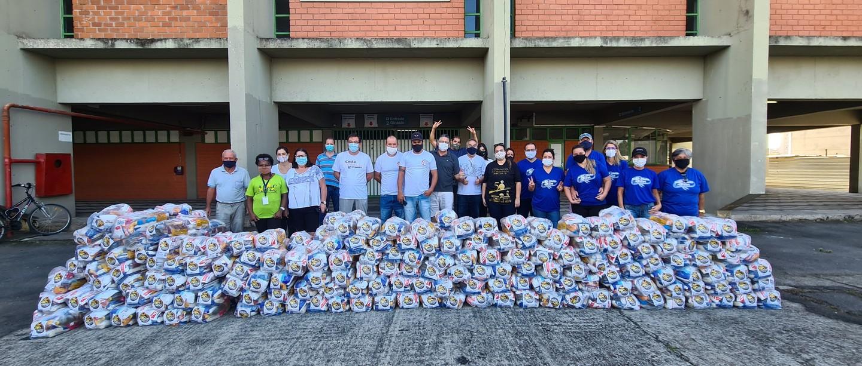 Mogi Basquete fecha campanha 'Cesta Solidária' com mais de 6 toneladas de alimentos entregues