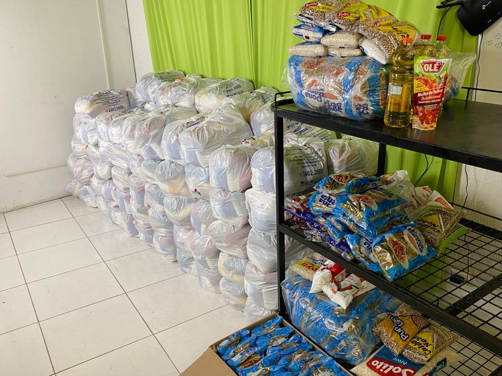 A campanha iniciou no dia 12 e já recebeu diversas doações de alimentos