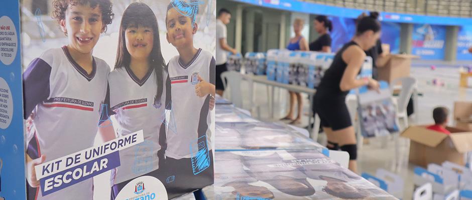 Secretaria de Educação de Suzano informou que os kits foram comprados e estão com o distribuidor