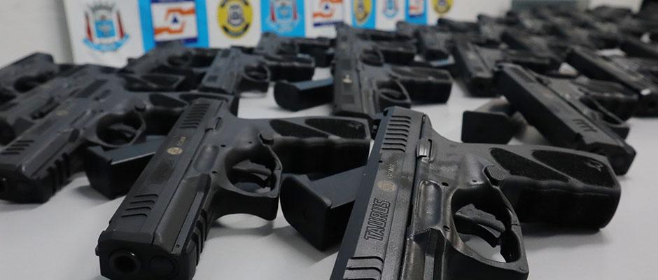 Guarda Civil de Suzano adquiriu novas armas novas armas a partir de emendas