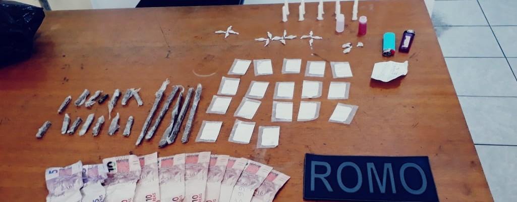 GCM apreende drogas no Jardim Luella