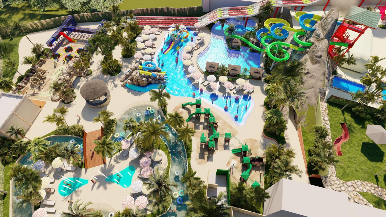 Blue Beach será construído em duas fases; imagem em 3D apresenta uma das etapas do projeto