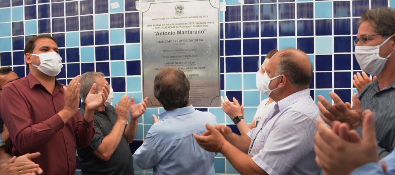Passagem subterrânea passou por reformas com ajuda de empresa