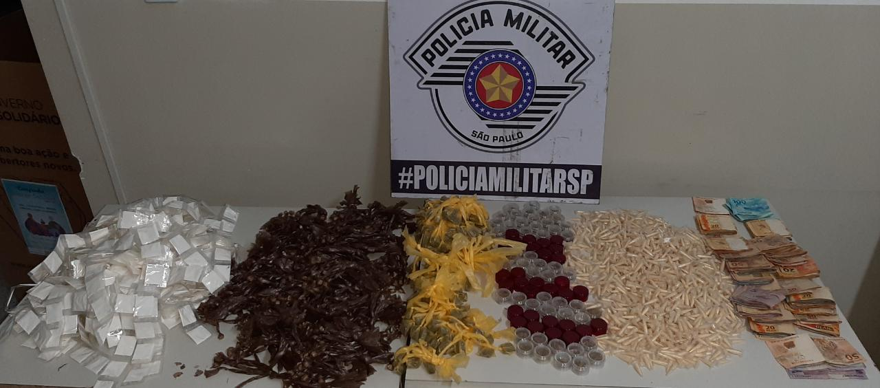 Drogas apreendidas pela Polícia Militar